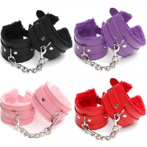 Erotic Furry Handcuffs In Your Choice Of Four Colors – One Size